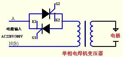 单相交流电焊机与点焊机控制主电路示意图-单相GBC2M 2通用过流保图片